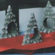 S1202- 4 Christmas Tree Napkin Rings 9cm