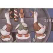 S1381 - 3 Quacker Magnets 13cm