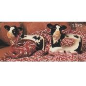 S1470- 4 Cow Napkin Rings 8cm