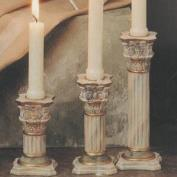S1793- 2 Victorian Candle Sticks 21cm