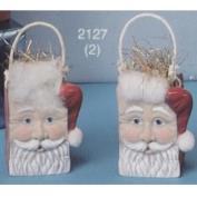 S2127- 2 Mini Santa Bags 8cm