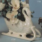 S2134-Swan Sleigh 31cm Long