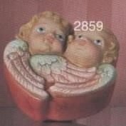 S2859-Small Box with Double Cherub Lid 13cmD