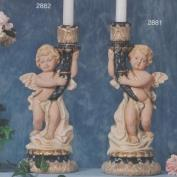 S2881-Tapered Cherub Candleholder Looking Right 33cm