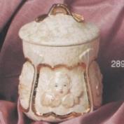 S2892-Cherub Cottonball Container 14cm
