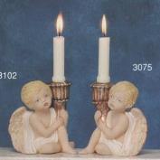 S3075-Sitting Cherub Candleholder 15cm