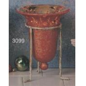 S3099 -Textured Bell Votive without cut outs 18cmT