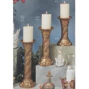 S3130-Large Spiral Candleholder Column,Capital & Base