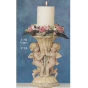 S3146-Ornate Container with Cherubs & Candleholder 31cm