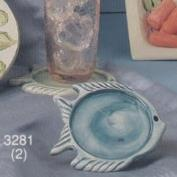 S3281- 2 Fish Coasters 12cmD