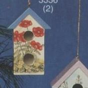 S3336B-Traditional Birdhouse Ornament Two Holes 10cm