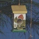 S3337B-Plain Birdhouse Ornament 10cm