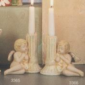 S3366-Cherub on Column Candleholder Left 15cm