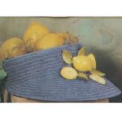 S3368-Wicker Hat Planter 31cmL