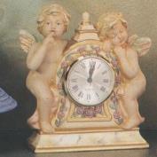 S3374-Medium Cherub Clock 19cm