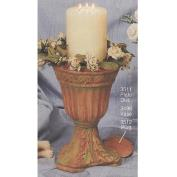 S3498B -Fluted Vase with Candle Plate S3512 -28cm Tall