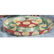 S3537-Round Chip & Dip Dish with Lid 36cm