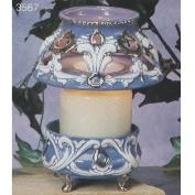 S3567-Victorian Shade with Cut Outs & Base 19cm