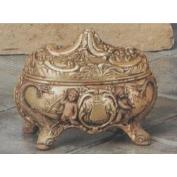 S3576-Cherubs on Fish Box 15cmL