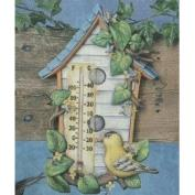 S3610-Birdhouse Thermometer Includes Thermometer 32cm