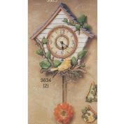 S3625-Birdhouse Clock with Bird 29cm