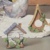 S3626- 2 Birdhouse Napkin Rings 10cm