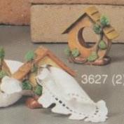 S3627- 2 Birdhouse Napkin Rings 10cm