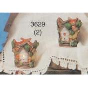 S3629- 2 Small Birdhouse Hurricanes no cut outs 8cm