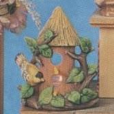 S3630-Two Story Birdhouse Votive 15cm