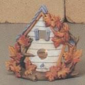 S3631-Maple Leaf Birdhouse Votive 13cm