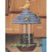 S3633-Birdhouse Birdfeeder with Bird 23cm