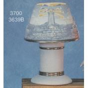 S3700A-Lighthouse Shade with Cut outs and Base 21cmW
