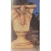 S3722B-Large 4-sided Planter with 2 Cherub Appliques 33cmT