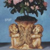 S3737-Double Cherub Vase 17cm