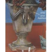 S3741B-Large 4-Sided Planter with 2 Elephant Appliques 33cm Tall