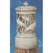 S3742-Dolphin Lantern with cut outs excludes base- 24cm