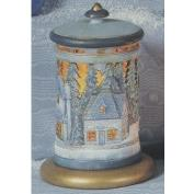 S3752-Dickens Village Lantern with cut outs excludes Base 23cm