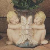 S3779-Double Cherub Vase 13cm