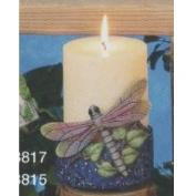S3817-Dragonfly on Round Footed Candle Holder 11cm