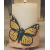 S3818-Butterfly on Round Footed Candle Holder 11cm
