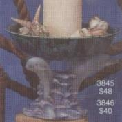 S3846-3 Dolphins with Bowl 23cmD