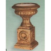 S3871 -Wreath Pedestal Urn Top S3870 & Base 36cm