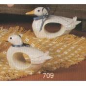 S709- 4 Duck Napkin Rings 7cm