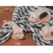 S749- 4 Pig Napkin Rings 7cm