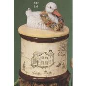 S839-Duck Cannister 15cm High