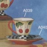 SA39ST-Birmingham Teacup 8cm & Saucer 15cm
