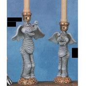 TL819ST-Pair of Elephant Candle Sticks 24 & 29cmH