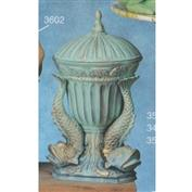 S3597A -Fluted Vase S3498 with Vase Plug & 3 Fish attachments 24cm