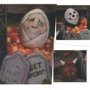 "D1207 -Mummy, Skull, Devil ""Egg Pressions"" 7cm"