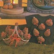 D1562 -6 Mini Ginger Pumpkins